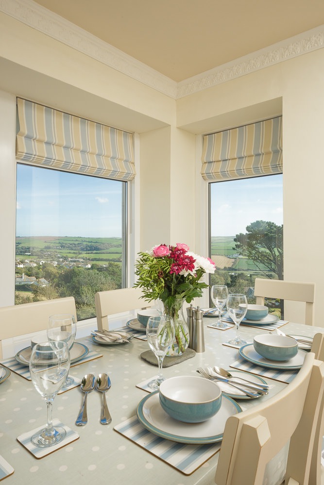 Dining room with a view over Thurlestone