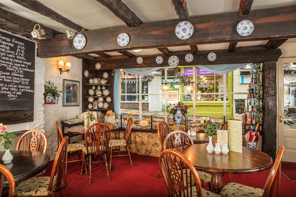 Interior Photography for Anne of Cleves Tearoom in Totnes