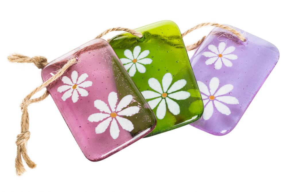 fused glass keyrings