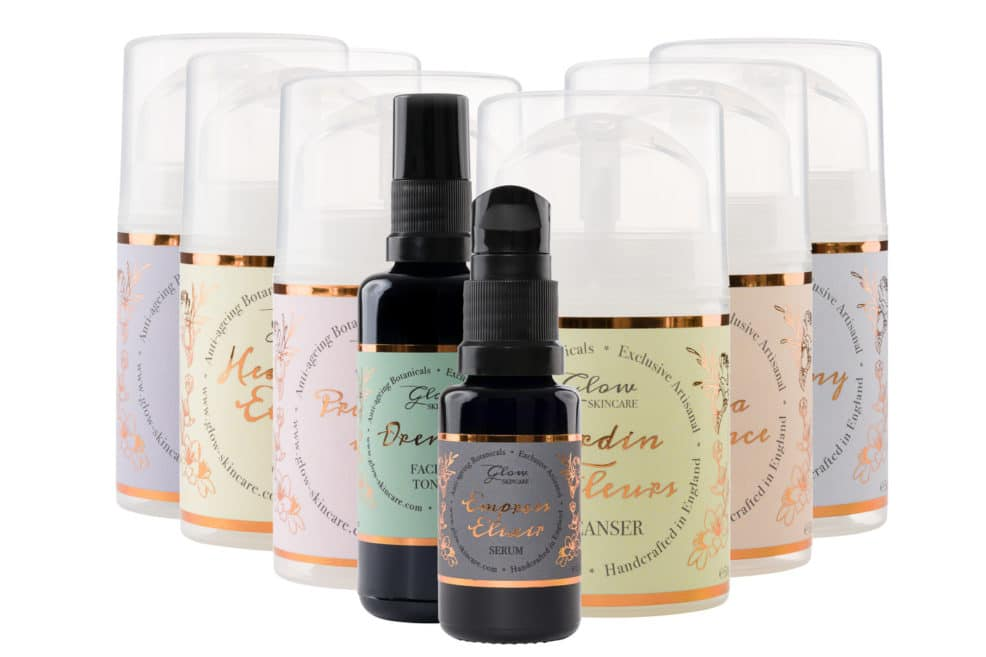 Product photography of Skincare bottles