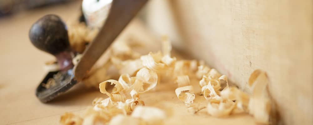 Photography for a builder's website - wood shavings