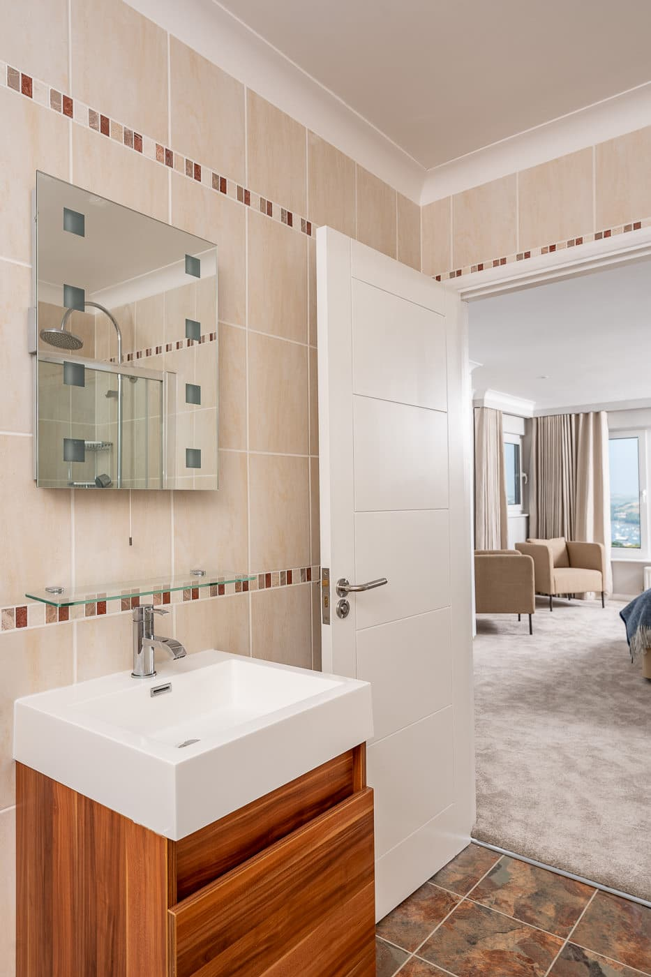 Salcombe bathroom leading to Master Bedroom