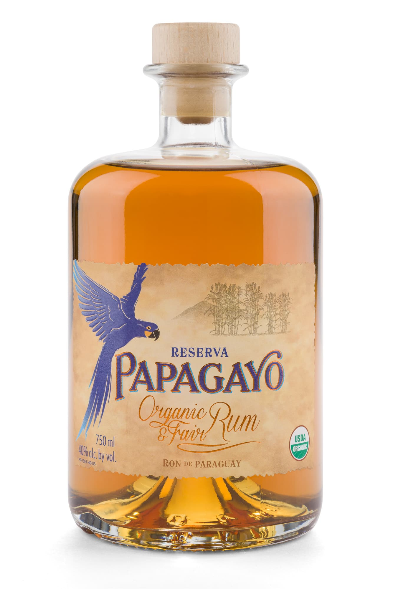 Papagayo Rum Product Cut Out with transparent shadow
