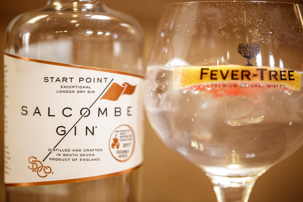 Salcombe Gin & Tonic at the Regal Bar in Kingsbridge