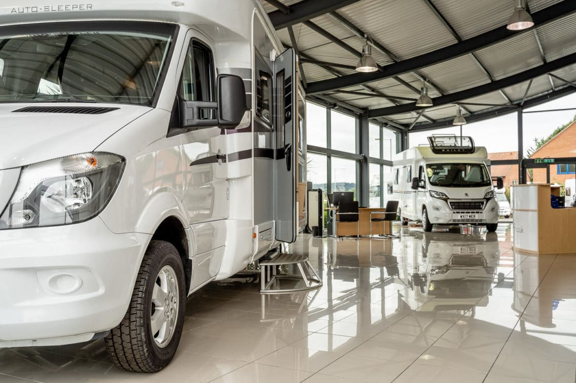 Showroom photography at the Motorhome Showroom