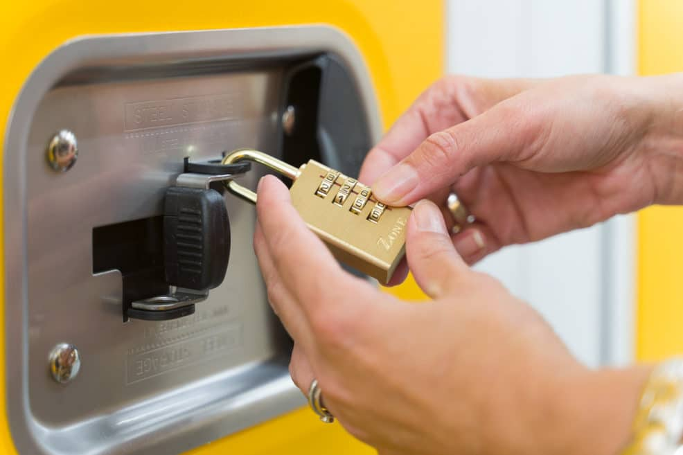 Unlocking a padlock